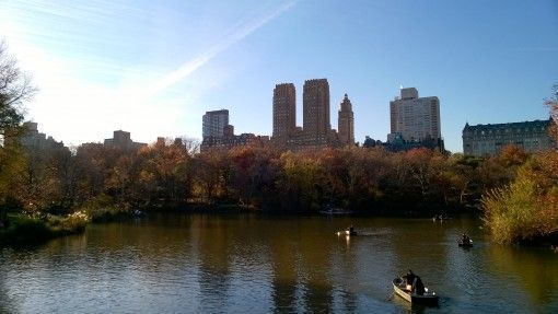 Boating on The Jacqueline Kennedy Onassis Reservoir, New York