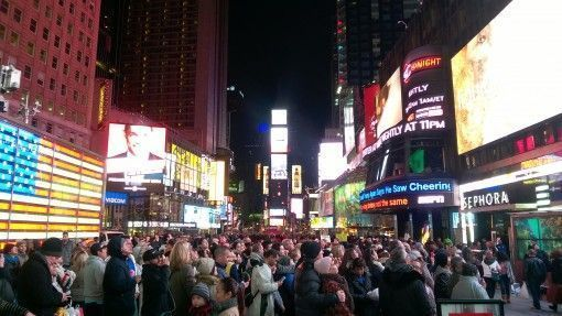 Tourists in Times Square, New York