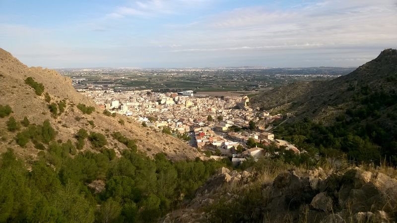 View over Callosa de Segura, Spain