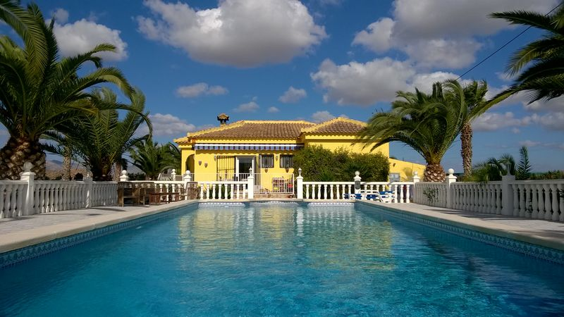 Our Spanish house sit - pool and home