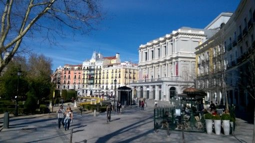 Opera Area in Madrid, Spain