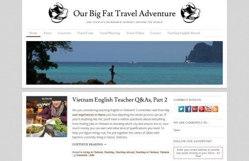 Our Big Fat Travel Adventure Homepage