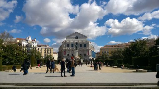 Visiting Madrid, the Plaza de Oriente