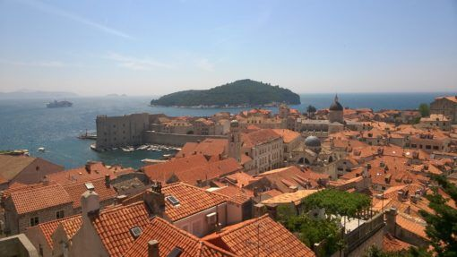 View of Dubrovnik Old Town and Lokrum Island