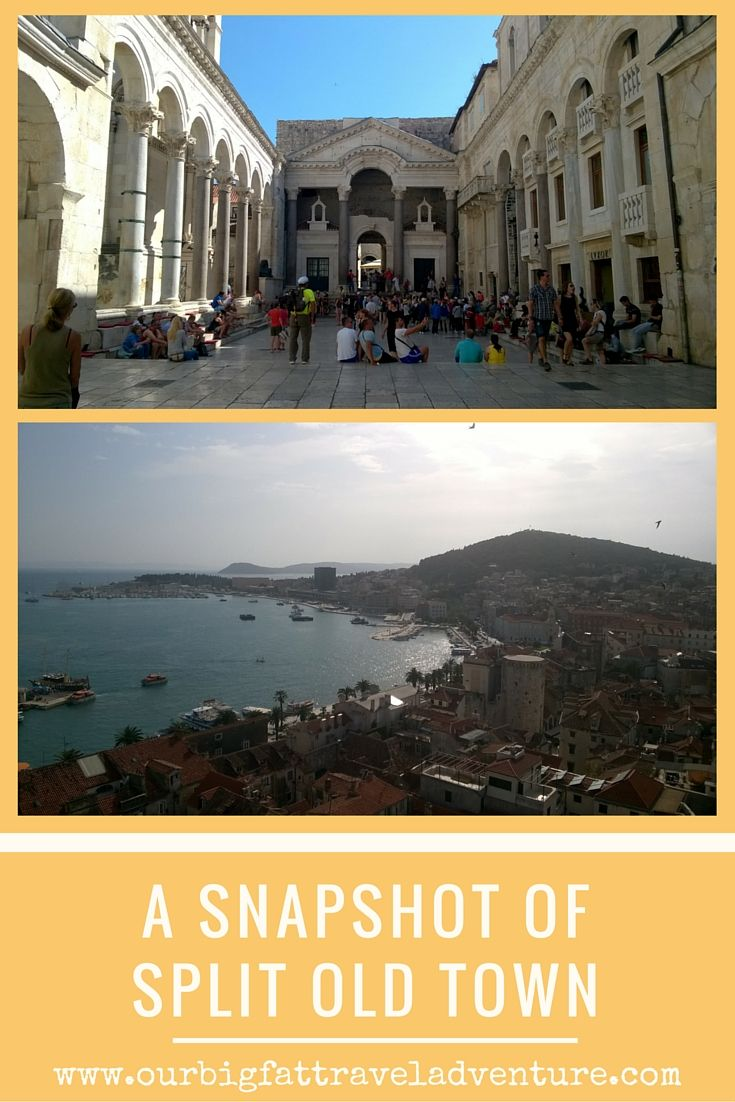 A snapshot of Split Old Town, Pinterest