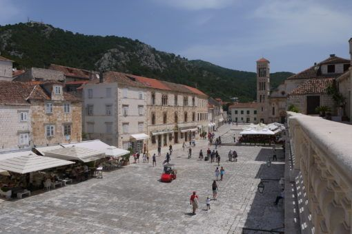 St Stephen's Square, Hvar City, Croatia