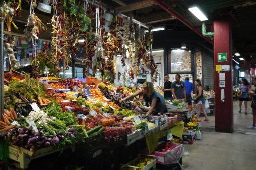 Produce stall at the Mercato Centrale in Florence