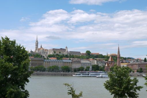 View of the Castle District over the River Danube in Budapest
