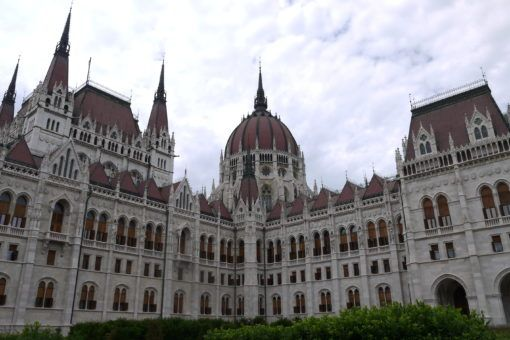 The Hungarian Parliament Building in Budapest, Hungary