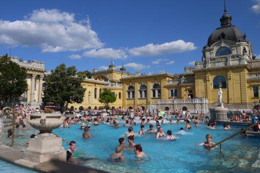 The Szechenyi Baths in Budapest, Hungary