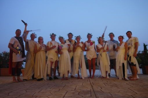 Toga Party with Family in Italy