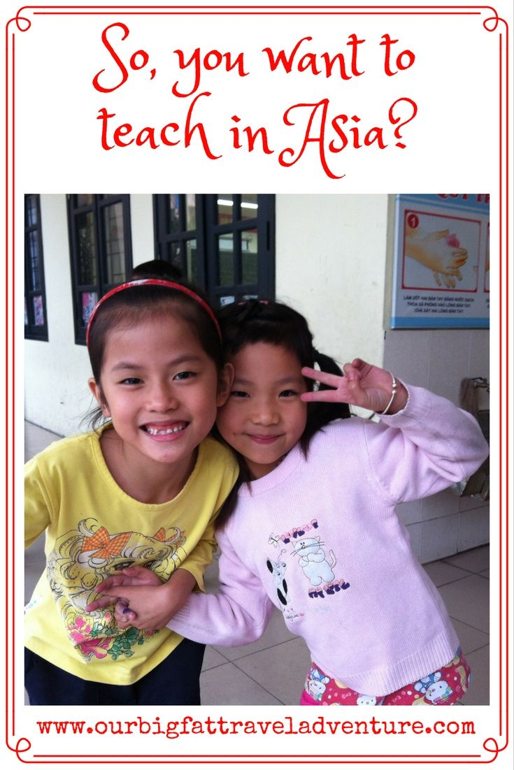 so you want to teach in Asia, Pinterest poster