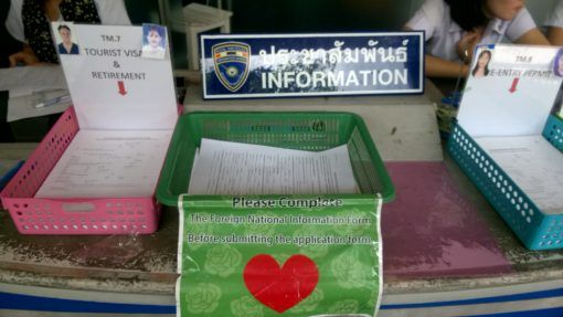 Visa Forms at the Chiang Mai Immigration Office