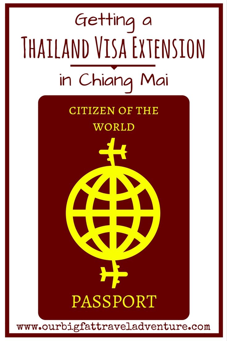 getting a Thailand visa extension in Chiang Mai, Pinterest Pin
