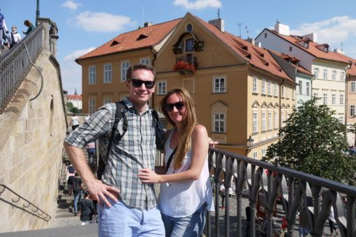 Andrew and I exploring Prague