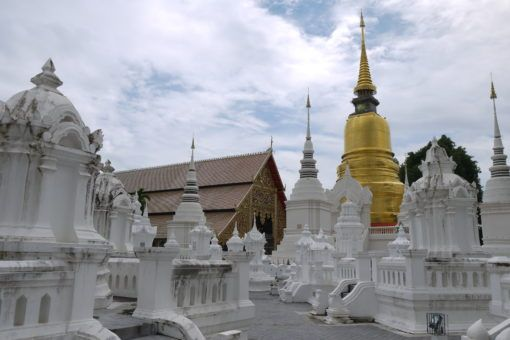 Wat Suan Dok garden of pagodas in Chiang Mai, Thailand