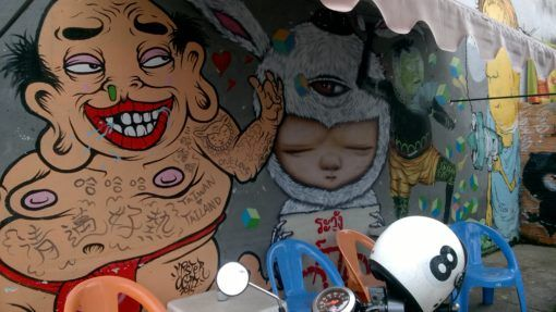 Chiang Mai street art & our first digital nomad report
