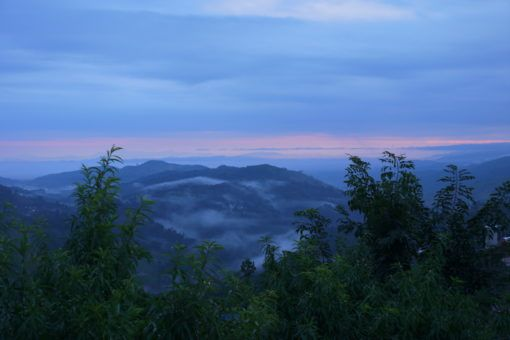 Sunrise over the mountains in Mae Salong, Thailand