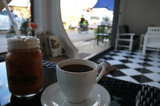 Local tea at a cafe in Mae Salong