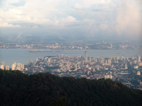 View of Georgetown, Penang from Penang Hill