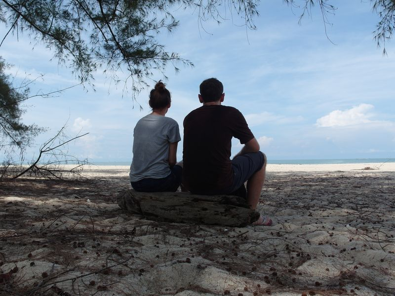 Us on Turtle Beach in Penang, Malaysia