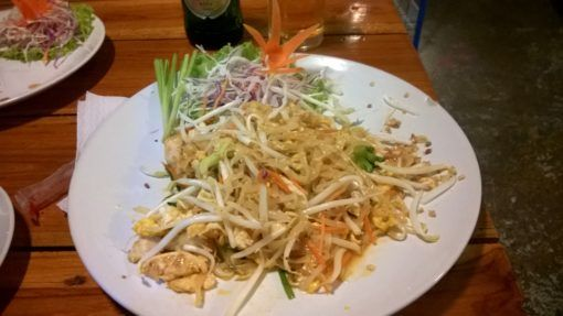 A plate of Pad Thai from Cooking Love restaurant in Chiang Mai