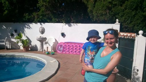 On Holiday with my nephew in Spain