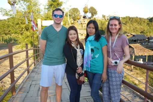 Photo with Thai Tourists