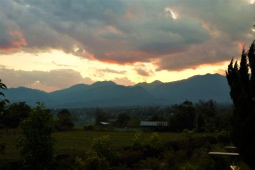 Sunset view from @Pai resort in Thailand
