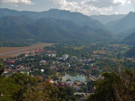 View of Mae Hong Son town from Kong Mu Hill