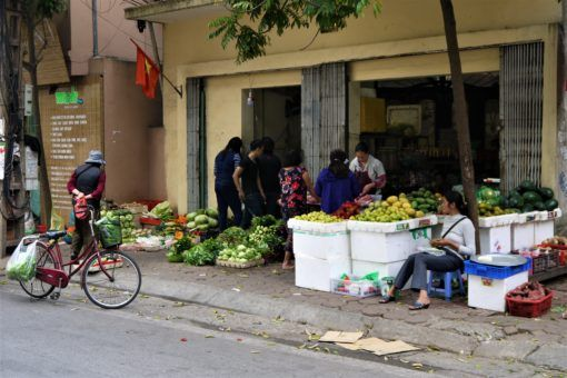 Where we used to buy our veg in Hanoi