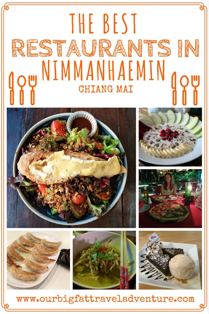 The best restaurants in Nimmanhaemin, Chiang Mai. Pinterest Pin