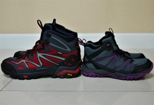 Our new Merrell Capra Hiking boots for trekking in Nepal