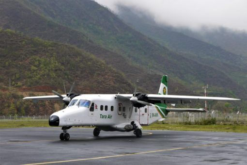 Tara Air Plane grounded by weather on the way to Lukla, Nepal