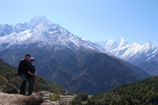 Us in the Himalayas, on the Everest Base Camp Trek