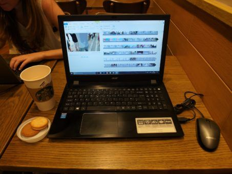 Working on our laptops at Kuala Lumpur Airport