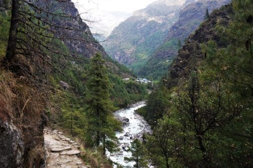 The Everest Base Camp Trail from Lukla to Monjo