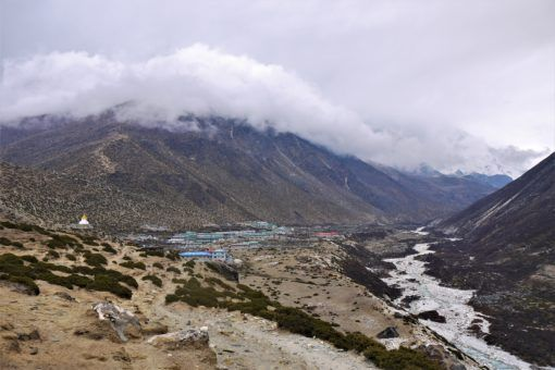 The colourful rooftops of Dingboche on the Everest Base Camp Trek