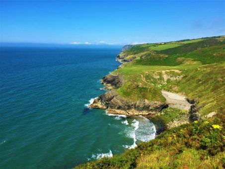 The Welsh Coastline on a walk to Newquay