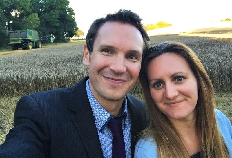 Andrew and I at a wedding in Hereford this summer
