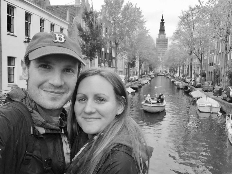Andrew and I by the canal in Amsterdam
