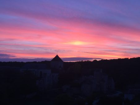 Sunset in Poitiers, France