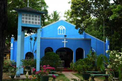 Blue church in Sri Lanka