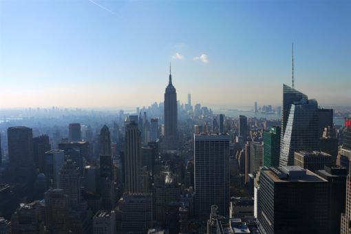 Looking over Manhattan from the Top of the Rock, New York