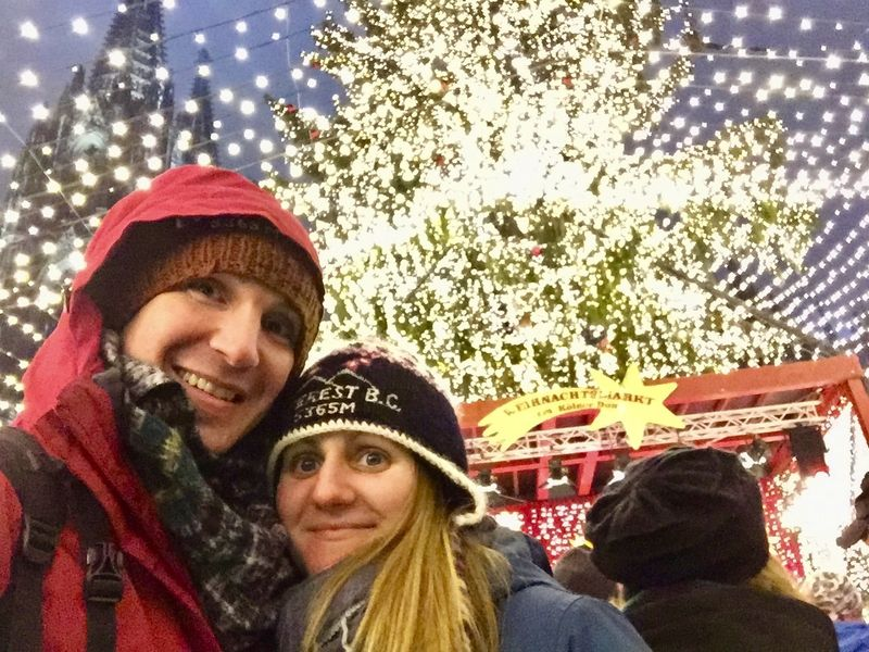 A selfie at the Cologne Christmas Market, Germany