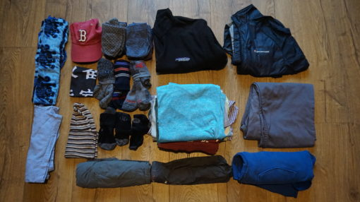 Andrew's clothes for our South America trip