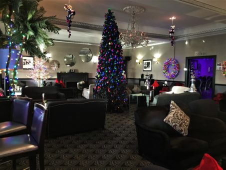 The Lounge at Christmas at The Cumberland Hotel in Bournemouth