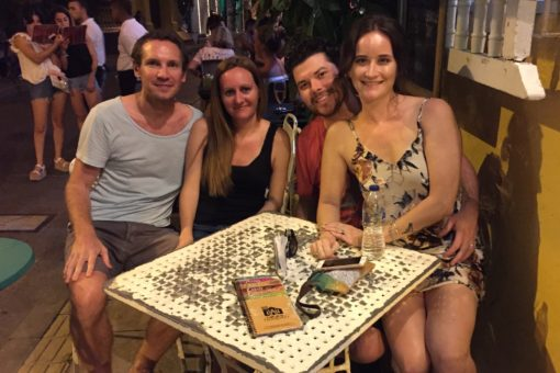 Us with Kile and Ashley in Cartagena