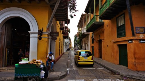 Cartagena taxi in the colourful streets