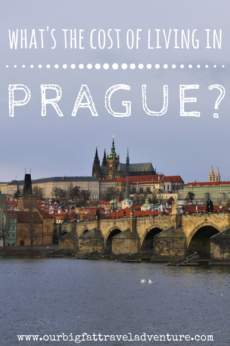 what's the cost of living in Prague? Pinterest pin